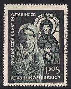 ANK 1181 I, Michel 1151 I, Romanische Kunst, Plattenfehler Stirnfransen, gestempelt