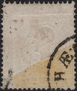 Österreich, 1858, Ferchenbauer Nr. 10 II a, 2 Kreuzer hellgelb, Type II MIT EXTREM GROSSEM DRUCKAUSFALL von NAHEZU 75 % DES MARKENBILDES !! entwertet mit