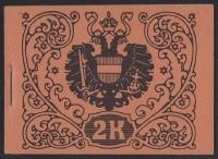 ANK Nr. MH 4, Michel Nr. MH 3, Markenheftchen 1918 zu 2.00 Kronen in rotorange, postfrisch, ATTEST Soecknick