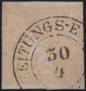 ANK Nr. 7 I b, Michel Nr. 7 I a, Ferchenbauer Nr. 7, Zeitungsmarke-Ausgabe 1851,