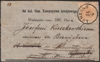 Österreich, 1850, Nr. 1 H I a, 1 Kreuzer ockergelb Handpapier Type I a auf komplettem Drucksachen-Adresszettel von LEMBERG nach BEZMICHOWA bei SANOK und weitergesandt nach NIZANKOWICE (heutige Ukraine), ATTEST Dr. Ferchenbauer