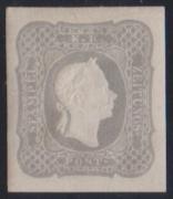 ANK Nr. 23c, Michel Nr. 23b, Ferchenbauer Nr. 23b, Zeitungsmarke 1861 dunkelgrau ungebraucht, ATTEST Goller als
