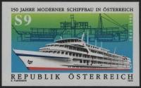 Österreich, 1990, ANK Nr. 2031 U, MICHEL Nr. 1999 U, 150 Jahre moderner Schiffbau in Österreich - UNGEZÄHNT - postfrisch - ATTEST Soecknick
