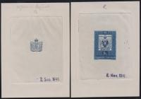 Österreich, 1950, ANK Nr. 962, MICHEL Nr. 950, 100 JAHRE ÖSTERREICHISCHE BRIEFMARKE, Phasendrucke 1. Phase - 2. Phase ( ENDPHASE ) in DUNKELBLAU, gummiert, ATTEST Dr. Glavanovitz