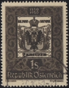 ANK Nr. 962, Michel Nr. 950, 100 Jahre Österreichische Briefmarke, DOPPELDRUCK bzw. DOPPELDRUCKÄHNLICHER DRUCK, gestempelt, ATTEST Puschmann
