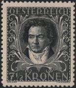 Österreich, 1922, ANK Nr. 420 B, MICHEL Nr. 420 B, Österreichische Komponisten, 7 ½ Kronen in der seltenen Lz. 11 ½ ( Linienzähnung 11 ½ ), postfrisch, BEFUND Soecknick