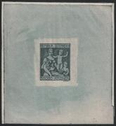 Österreich, 1924, ANK Nr. 444 PU, MICHEL Nr. 444 PU, Jugend- + Tuberkulosefürsorge, NICHT VERAUSGABTE BRIEFMARKE MIT NOMINALE 50.000 Kronen ANSTATT 500 Kronen als UNGEZÄHNTER EINZELABZUG in schwärzlichgrautürkis, ATTEST Soecknick