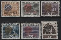 Österreich, 1931, ANK Nr. 518 - 523, MICHEL Nr. 518 - 523, Kongreß von Rotary International, postfrisch, ATTEST Soecknick