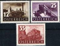 646 - 648, 100 Jahre Österreichische Eisenbahn, postfrisch