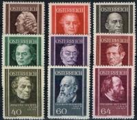 Österreich, 1937, ANK Nr. 649 - 657, MICHEL Nr. 649 - 657, Österreichische Ärzte, postfrisch, DB D889
