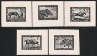Österreich, 1946, ANK Nr. 793 PU - 797 PU, MICHEL Nr. 785 PU - 789 PU, Austria Preis - komplette Serie aller 5 Werte als Photoproben, ATTEST Soecknick