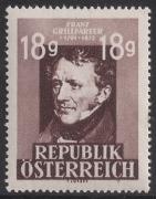 ANK Nr. 810, Michel Nr. A 802, Franz Grillparzer, glatter Grund, postfrisch