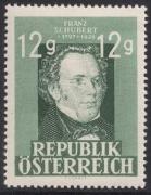 ANK Nr. 819, Michel Nr. 801, Franz Schubert, postfrisch