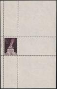 Österreich, 1948, ANK Nr. 863 P, MICHEL Nr. 854 P, Olympische Spiele London 1948, Probedruck in Bräunlichlila MIT WERTANGABE 60+20 Groschen anstatt 1 S + 50 Groschen als EINZELABZUG IM KLEINBOGEN postfrisch, ATTEST Soecknick