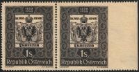 Österreich, 1950, ANK Nr. 962 Ur, MICHEL Nr. 950 Ur, 100 Jahre Österreichische Briefmarke, RECHTS UNGEZÄHNT, postfrisch, ATTEST Soecknick