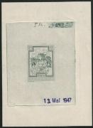 Österreich, 1948, ANK Nr. 878, MICHEL Nr. 869 Ph, Heimische Blumen, Probedruck Phasendruck 20 + 10 Groschen BUSCHWINDRÖSCHEN als 1. Phase in GRÜN mit Datum 13. Mai 1947 auf gummiertem Papier, SEHR SELTEN - DB CG14127