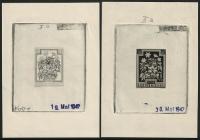 Österreich, 1948, ANK Nr. 878, MICHEL Nr. 869 Ph, Heimische Blumen, Probedrucke Phasendrucke 20 + 10 Groschen BUSCHWINDRÖSCHEN als 2. Phase in schwarz und 3. Phase in schwarz MIT NOMINALE 8 + 3 Groschen anstatt 20 + 10 Groschen !! SEHR SELTEN - DB CG14127