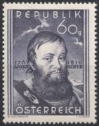 Österreich, 1950, ANK Nr. 961, MICHEL Nr. 949, 140. Todestag von Andreas Hofer, postfrisch, DB D667