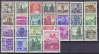 ANK Nr. 1090 - 1114, Freimarken-Ausgabe Bauwerke und Baudenkmäler, 25 Werte, postfrisch