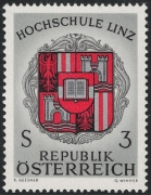 Österreich, 1966, ANK Nr. 1260 F II, Michel Nr. 1230 F II, Hochschule Linz mit fehlendem Golddruck, postfrisch, ATTEST Soecknick