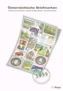 Österreich, Jahreszusammenstellung der Österreichischen Post Nr. 20, Jahr 1999