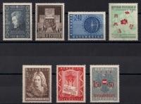 Österreich Jahrgang 1956 - 1960 postfrisch OHNE FREIMARKEN TRACHTEN weißer Gummi und OHNE FREIMARKEN BAUTEN bzw. BAUDENKMÄLER, DB D686