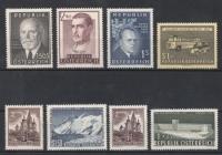 Österreich Jahrgang 1957 - 1960 postfrisch OHNE FREIMARKEN TRACHTEN weißer Gummi und OHNE FREIMARKEN BAUTEN bzw. BAUDENKMÄLER, DB D559