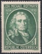 ANK Nr. 1016, Michel Nr. 1007, 300. Geburtstag von Johann Michael Rottmayr, postfrisch, DB D667