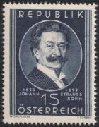 ANK Nr. 946, Michel Nr. 934, 50. Todestag von Johann Strauß Sohn, postfrisch