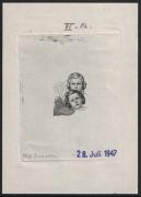 Österreich, 1949, ANK Nr. 942, MICHEL Nr. 930 Ph, Glückliche Kindheit 60 Gr. + 20 Gr. als Probedruck Phasendruck 6. Phase in schwarz auf gummiertem Papier vom 28. Juli 1947 - ATTEST Soecknick
