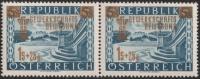 Österreich, 1953, ANK Nr. 996 VI, MICHEL Nr. 983 III, Gewerkschaftsbewegung im waagrechten Paar mit Plattenfehler retuschierter Schlangenkopf, postfrisch