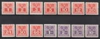 Porto Nr. 175 - 188, Adler über Wertziffer, postfrisch, ANK € 9,-- DB D663