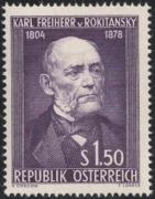 Österreich, 1954, ANK Nr. 1006, MICHEL Nr. 997, Karl Freiherr von Rokitansky, postfrisch, DB D667