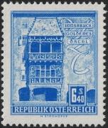 Österreich, 1957/70, ANK Nr. 1112 P(V), MICHEL Nr. 1055, Freimarkenausgabe: Bauwerke und Baudenkmäler, 6.40 S