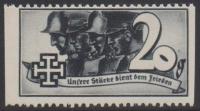 1938, Schuschnigg - Wahlwerbevignetten, Wert zu 20 Groschen in Grauschwarz, Randstück vom linken Bogenrand, postfrisch, Luxuserhaltung, DB