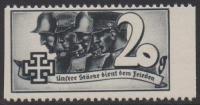 1938, Schuschnigg - Wahlwerbevignetten, Wert zu 20 Groschen in Grauschwarz, Randstück vom rechten Bogenrand, postfrisch, Luxuserhaltung, DB D537