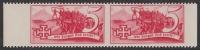 1938, Schuschnigg - Wahlwerbevignetten, Wert zu 5 Groschen in Rot im waagrechten Paar, postfrisch, Luxuserhaltung, DB D537