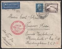 Michel Nr. 439 I. + 416, Südamerikafahrt 4 RM mit Plattenfehler