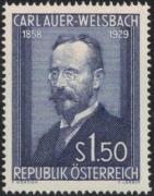 ANK Nr. 1015, Michel Nr. 1006, 25. Todestag von Carl Freiherr Auer Ritter von Welsbach, postfrisch, DB D667