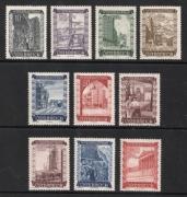 ANK Nr. 867 - 876, Michel Nr. 858 - 867, Wiederaufbau, postfrisch