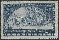 Österreich, 1933, ANK Nr. 556, MICHEL Nr. 556 A, WIPA-Marke auf Faserpapier, postfrisch, ATTEST Soecknick