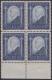 """Österreich, 1932, ANK Nr. 544, MICHEL Nr. 544, Tod von """"Dr. Ignaz Seipel"""" im 4er-Block vom unteren Bogenrand, postfrisch"""