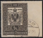 """ANK Nr. 962 Ur, Michel Nr. 950 Ur, 100 Jahre Österreichische Briefmarke, RECHTS UNGEZÄHNT, gestempelt, ATTEST Soecknick """"echt und einwandfrei"""", SEHR SELTENE BRIEFMARKE !!!, DB RF8361"""