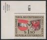 Österreich, 1963, ANK Nr. 1163 Ul, MICHEL Nr. 1133 Ul, 600 JAHRE TIROL mit SEHR SELTENER ZÄHNUNGSABART - LINKS UNGEZÄHNT, postfrisch, ATTEST Dr. Glavanovitz