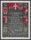 Österreich, 1968, ANK Nr. 1305 V, MICHEL Nr. 1274 V, 50 Jahre Republik mit ABART STARK VERSCHOBENER GOLDDRUCK, postfrisch, ATTEST Soecknick
