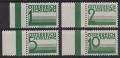 Porto Nr. 132 - 158, Neue Ziffernzeichnung, Werte zu 1 S - 10 S einheitlich vom linken Bogenrand mit Druckbalken mit Markenfarbe, postfrisch, ATTEST Soecknick