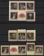 Österreich, 1969, ANK Nr. 1324 P U - 1331 P U, MICHEL Nr. 1294 P U - 1301 P U, 100 Jahre Wiener Staatsoper, alle Marken aus dem Block als UNGEZÄHNTE PROBEDRUCKE in schwarz auf Andruckpapier, gesamt 12 Marken, 5 Marken AUF WEISSEM ANDRUCKPAPIER !! DB M1250