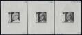 Österreich, 1974, ANK Nr. 1482, MICHEL Nr. 1458, Dr. h. c. Franz Jonas - BUNDESPRÄSIDENT - als Probedrucke Phasendrucke - komplette Garnitur = 1. Phase - 3. Phase ( ENDPHASE ) je mit rückseitiger Archivnummer in schwarz auf gummiertem Papier - DB VF2492