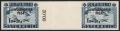 """Österreich, 1954, ANK Nr. 1007 ZW U, Michel Nr. 998 ZW U, 1 S + 20 g """"Lawinenopfer 1954"""" im ungezähnten waagrechten Zwischenstegpaar mit Plattenfehler """"gebrochene 4"""", postfrisch, ATTEST Soecknick """"echt und einwandfrei"""" - vermutlich UNIKAT"""