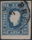 """Österreich, 1858, Zeitungsmarken-Ausgabe 1858, Ferchenbauer Nr. 16, 1,05 Kreuzer blau, Type II anstatt Type I entwertet mit """"BRÜNN 4 / 6"""", ATTEST Dr. Ferchenbauer """"typenfrei gestempeltes PRACHTSTÜCK dieser extrem seltenen Abart"""" - DB"""
